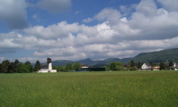 Dorf-Silhouette
